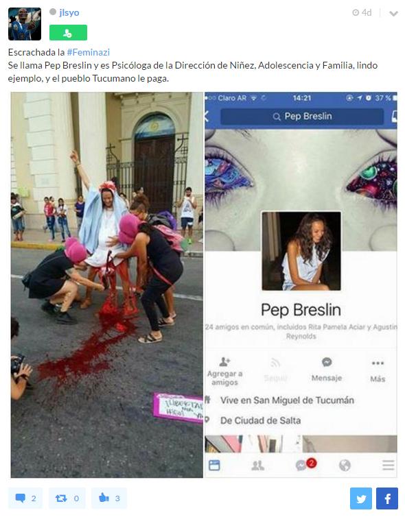 Pep Breslin escrache