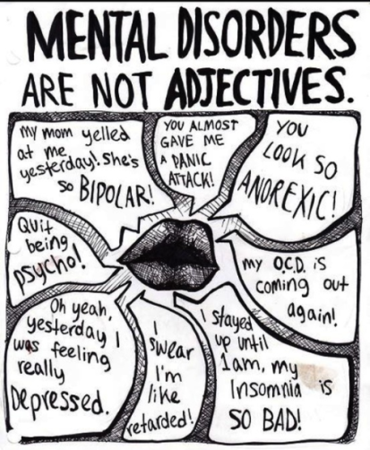 mental disorders are not adjetives