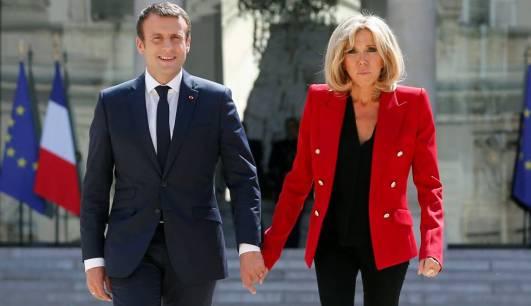 Emmanuel y Brigit Macron